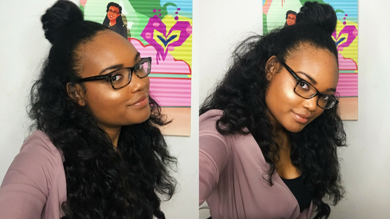 Half Up Half Down with Quick Weave \u2013 Honest Hair Diary